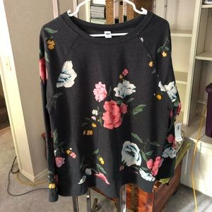 NWT Old Navy Floral Sweatshirt, size large